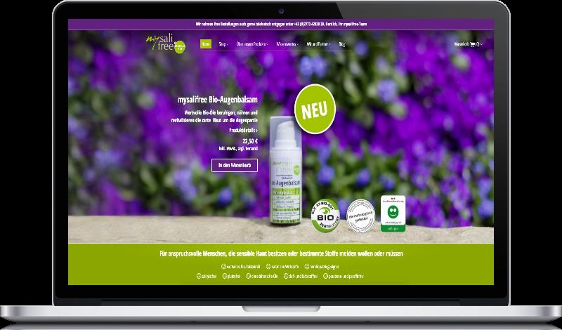 Website Image mysalifree auf Peritus Webdesign Webseite