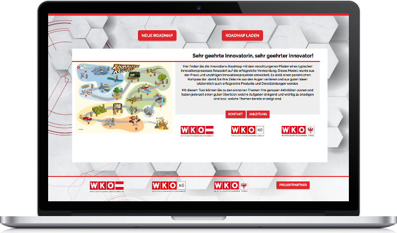 Website Image WKO Innovations-Roadmap auf Peritus Webdesign Webseite