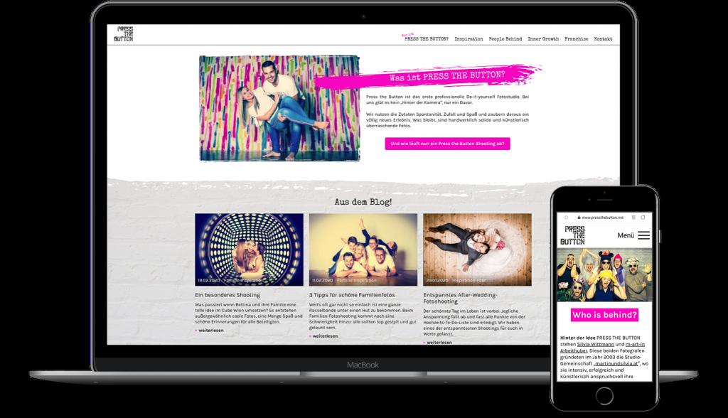 Website Image Press the button Screenshot auf Peritus Webdesign Webseite